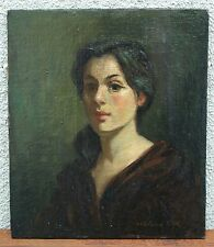 c.1960's Oil Portrait of a Lady, American Artist / illustrator Charles Pugh