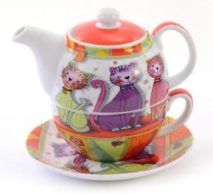 """Tea for one Set """"Evi"""" Porzellan, 4-teilig Kanne: 0,3 l, Tasse: 0,17 l"""