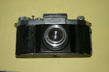 Vintage Praktiflex Early part black 35mm SLR Camera w Anastigmat Victar F/2.9
