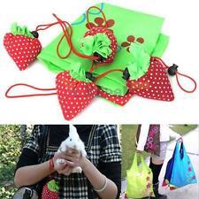Strawberry Foldable Eco Bag Reusable Shopping Tote Shoulder Purse Cute Beauty