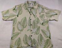 Banana Cabana Silk Shirt Hawaiian Shirt Size Large