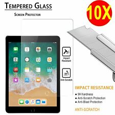 10 Lot Tempered Glass Screen Protector Film For Apple iPad Mini Air iPad 2 3 4 5
