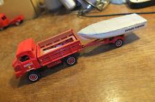 Solido Simca-Unic 4x4 SUMB Pompiers avec Remorque + Bateau 1:50e #Neuf# #France#