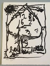 jean pierre pincemin lithographie gravure support surface 1991 numerotée