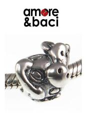 Genuine AMORE & BACI 925 sterling silver COW charm bead RRP £20