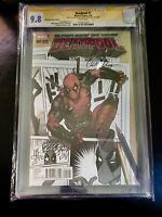 Deadpool #1 CGC 9.8 Signed Duggan & Hawthorne Variant Cover