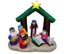 Christmas Air Blown LED Inflatable Yard Garden Outdoor Decoration Nativity Scene
