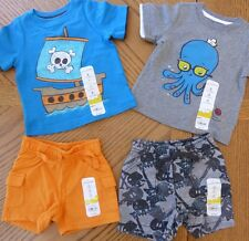 NEW 3 Month Baby Boy Summer clothes LOT 2 Outfits Mix & Match shorts tops NWT