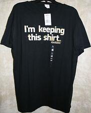 NWT Bay Island Crew Short Sleeve Graphic Tee shirt Black Keeping Shirt XL