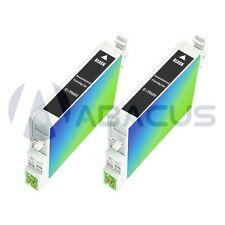 2-PACK Black Ink Cartridges for Epson Stylus CX3800 CX3810 CX4200 Inkjet Printer