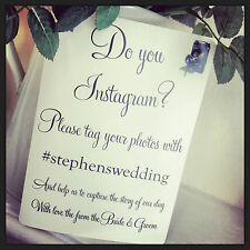 A5 Wedding Camera 'Instagram' poster/sign-shabby chic style