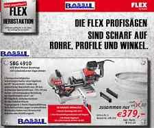 Flex SBG 4910 Metall-Bandsäge +1Paar Kunststoffspannbacken+Bi-Metall Sägeband