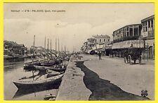 cpa 34 - PALAVAS les FLOTS (Hérault) Le QUAI Rive Gauche Barques de Pêche