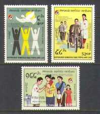 Laos 1988 Cruz Roja/Media Luna/125 años/Bicicleta 3 V Set n21034