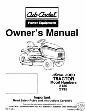 Cub Cadet Owners Manual Model No. 2130-2135