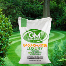 GroundMaster Fine Luxury Green Lawn Ornimental Style Grass Seed Various Sizes