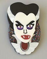 Unique Large Vampire Head Halloween Pin Brooch