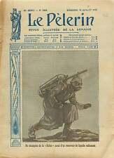 WWI Pickelhaube Lance-flammes Flamethrower Flammenwerfer War 1915 ILLUSTRATION