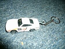 PORSCHE 959 DIECAST MODEL TOY CAR KEYCHAIN KEYRING NEW WHITE RACE CAR