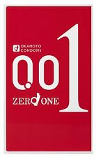 NEW Condoms Okamoto Zero One 001 0.01 Polyurethane 3pcs 1box Japan F/S