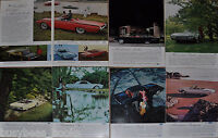 1962 Ford THUNDERBIRD advertisements x7, T-BIRD, convertible, Landau, Roadster