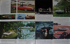 1962 Ford THUNDERBIRD advertisements x7, T-BIRD, convertible, Landau, Roadster