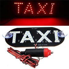 Auto Red 45 LED Cab Taxi Roof Sign Light 12V Vehical Inside Windscreen Lamp FJ