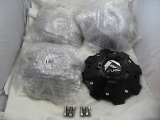 Fuel Wheels Flat Black Custom Wheel Center Cap #1001-63B 5-6 LUG FOUR Caps