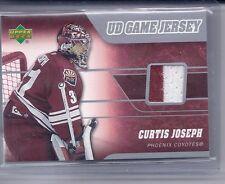 06-07 2006-07 UPPER DECK CURTIS JOSEPH 2 COLOR UD GAME JERSEY J-CJ COYOTES