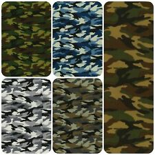 100% Cotton Poplin Rose & Hubble Military Camouflage Army Camo Fabric Material