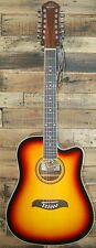 Oscar Schmidt by Washburn OD312CE 12 st. Acou-Elec Guitar - Tobacco Sunburst NEW