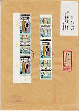 ❸❶76 DDR MiNr. 2557 - 2560 als ZD Zusammendrucke a Brief mit Seltenheit, ansehen