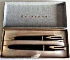 More details for waterman fountain pen & ballpoint set dating from 1950/60s in ebony black