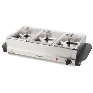Progress® Portable Food Warmer Buffet Server, 3 x 1.5Litre Pans (EK3664P)