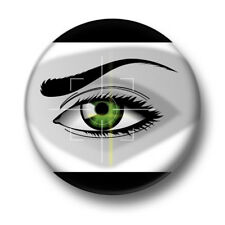 Eye 1 Inch / 25mm Pin Button Badge Optical Facial Recognition ID Cyber Security