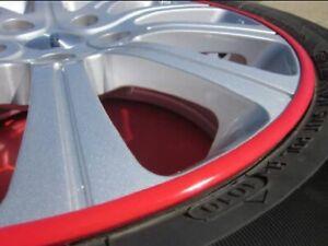 Rim Guards Red Alloy Armor Wheel Rim Curb Scratch Protection For Jaguar Models