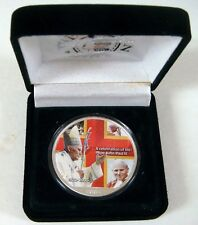 POPE JOHN PAUL II COLORIZED SILVER EAGLE DOLLAR COIN 2005 FULL OUNCE .999 SILVER