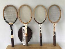 4 Vintage Wilson Jack Kramer Collection Wood Tennis Rackets Pro Staff Autograph+
