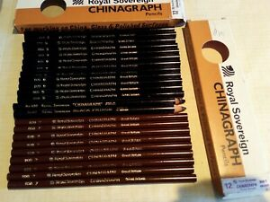23 pcs VINTAGE ENGLAND PENCILS  in BOX-NEW--