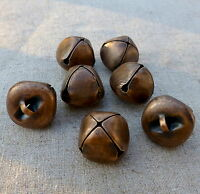 10 pcs - Big 20 mm copper tone jingle bells Charm Christmas Pendant