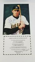 Ben Grieve Oakland A's Athletics Signed 8x10 Photo MLB COA  Z4