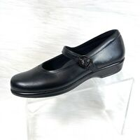 SAS Maria Women's Mary Jane shoes Black Leather  Comfort Shoes Size 9 N