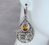 BaliBeauti Genuine Pear Shaped Stone and Sterling Silver Dangle Earrings