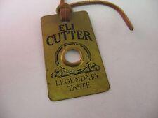 "Rare Collectible Vintage ELI CUTTER ""Legendary Taste"" Brass Tag Magnifier"