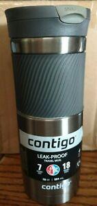 (4) Contigo SnapSeal Leak-Proof Travel Mug 20 oz SSG100B01 Travel Mug - GUNMETAL
