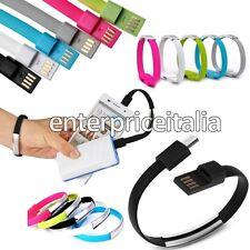 BRACCIALE CAVO DATI ANDROID RICARICA USB MICRO USB GALAXY S6 S5 S4 S3 S3 S