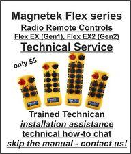 $5 Technical Assistance Magnetek Crane Hoist Radio Remote Flex 4EX 6EX 8EX 12EX