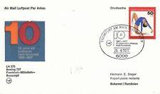 (44469) Alemania Lufthansa cubierta Frankfurt-Munich-Budapest 10 años de 26 de agosto de 1977