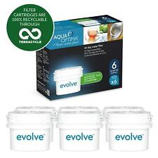 6 x Aqua Optima Evolve 30-Day Water Jug Refill Cartridge Filters - 6 Month Pack