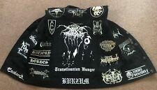 Black Metal Battle Jacket Cut-Off Denim Vest Darkthrone Bathory Mayhem Gorgoroth